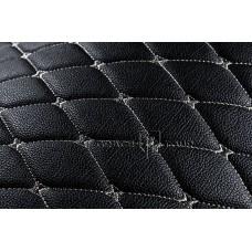 Багажник 3D Премиум черный с белой строчкой