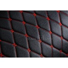 Багажник 3D Премиум черный с красной строчкой