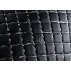 Багажник 3D Люкс черный с белой строчкой
