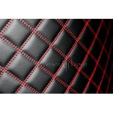 Багажник 3D Люкс черный с красной строчкой