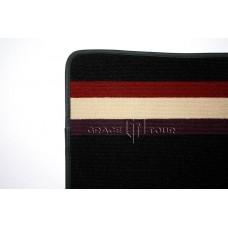 Дополнительный ворс текстильный черный с полосками