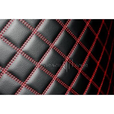 Багажник 2D Люкс черный с красной строчкой