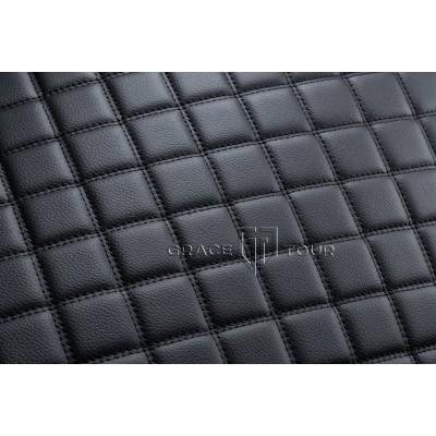 Багажник 2D Люкс черный с черной строчкой
