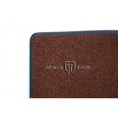 Дополнительный ворс текстильный коричневый гладкий мягкий