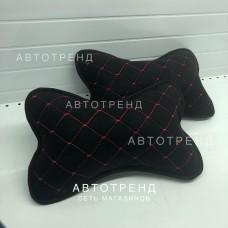 Подушка под шею /Чёрный+Красный