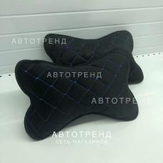 Подушка под шею /Чёрный+Синий