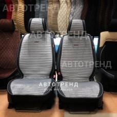 Накидки на сиденье Премиум АВТОТРЕНД серый/черный