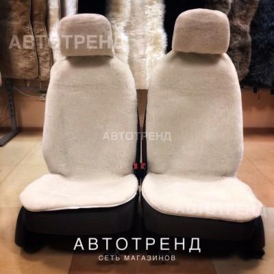 Накидки из овечьей шерсти (Белый)/Антискользящие
