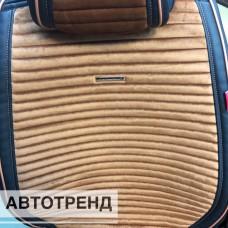 Накидки на сиденья MONACO св.коричневый с черным кантом