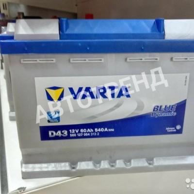 Аккумулятор автомобильный Varta 60 Ач Прямая полярность