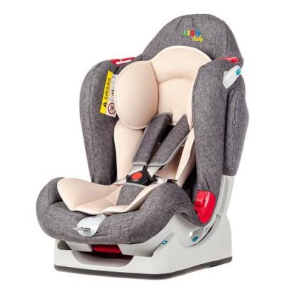 Автокресло детское Liko-Baby Серый/Лен (0-25 кг)