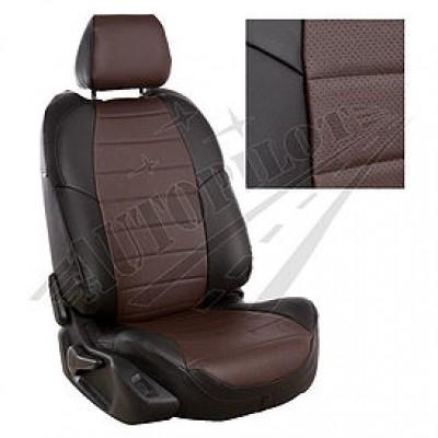 Чехлы на сиденья из матовой экокожи Аригон (Черный+шоколад)