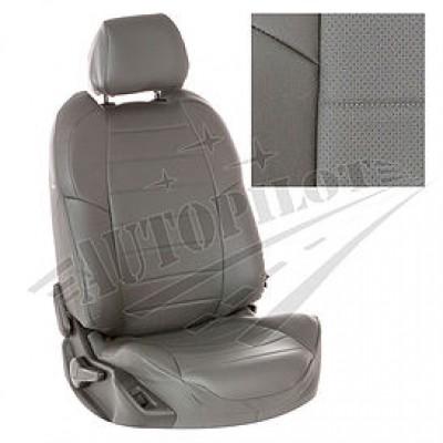 Чехлы на сиденья из матовой экокожи АВТОПИЛОТ (Серый + Серый)