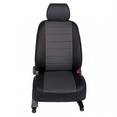 Авточехлы на сиденья из экокожи SEINTEX черный+серый