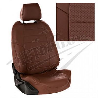 Чехлы на сиденья из матовой экокожи АВТОПИЛОТ (Тёмн. коричневый + Тёмн. коричневый)