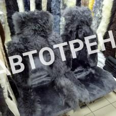 """Меховые накидки из овчины """"Премиум"""" ( Серый+серый)"""