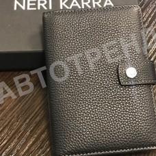 Обложка для автодокументов и паспорта с кнопкой NERI KARRA коричневый